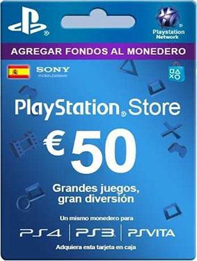50€ psn card spain