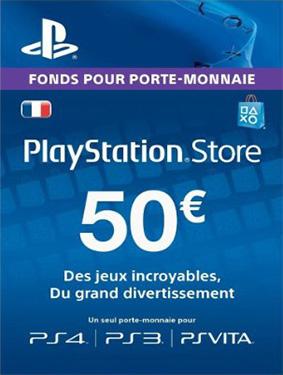 50€ psn france card