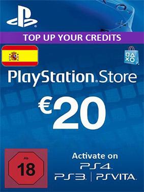 psn 20 euros card spain