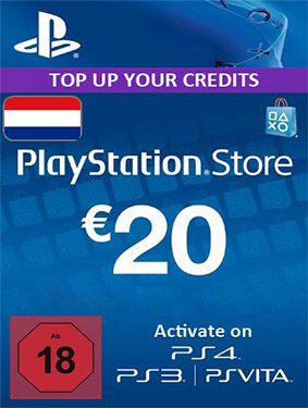 psn network card netherlands 20 euros