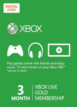xbox live 3 months