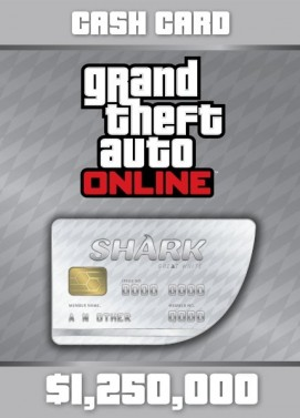 Grand Theft Auto V GTA Great White Shark Cash Card